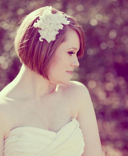 làm tóc cô dâu đẹp, bới đầu cô dâu tóc ngắn đẹp