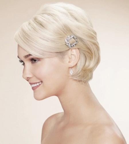 trang điểm cô dâu, kiểu tóc bob cô dâu đẹp