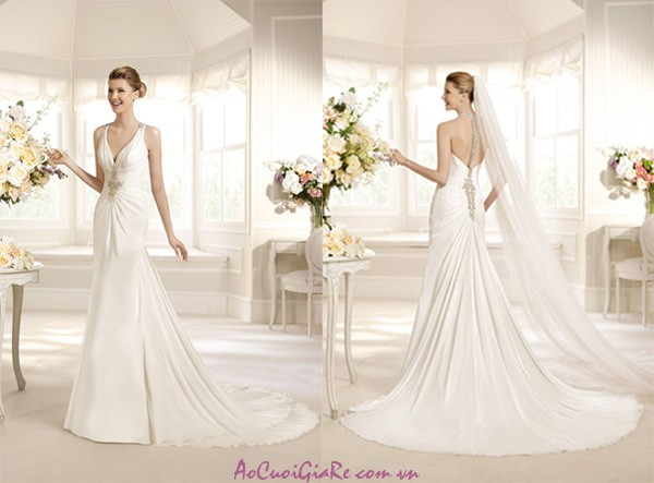 Những mẫu áo cưới đẹp, phần lưng áo cưới, bộ sưu tập áo cưới váy cưới;