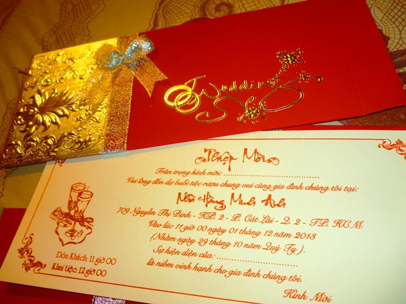 Thiệp cưới của năm