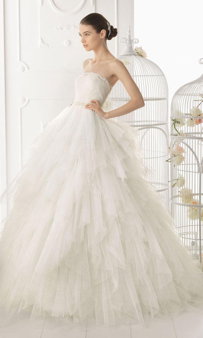Thuê áo cưới giá rẻ - Những mẫu áo cưới đẹp 2014 của thương hiệu Aire Barcelona