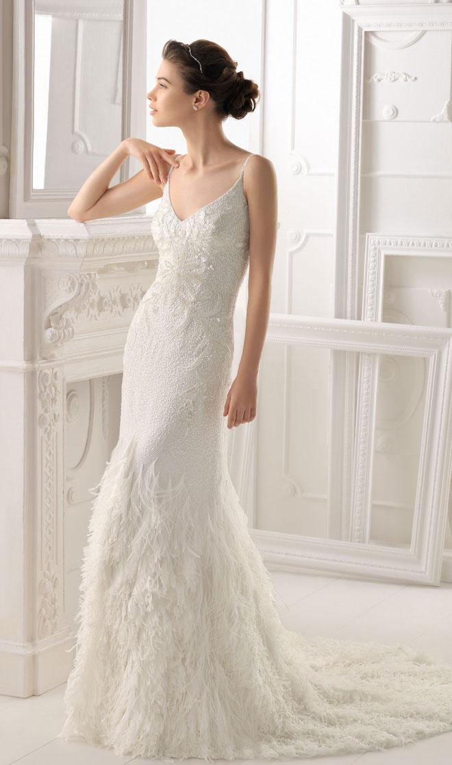 May áo cưới giá rẻ - Những mẫu áo cưới đẹp mới nhất năm 2014 của thương hiệu áo cưới Aire Barcelona