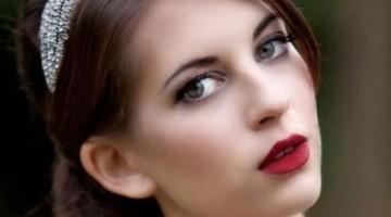 trang điểm cô dâu màu môi đậm, trang diem co dau dep 2014