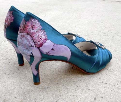 Mẫu giày cưới độc đáo